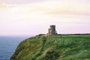 O'Brien's Tower at Cliffs of Moher with sunset