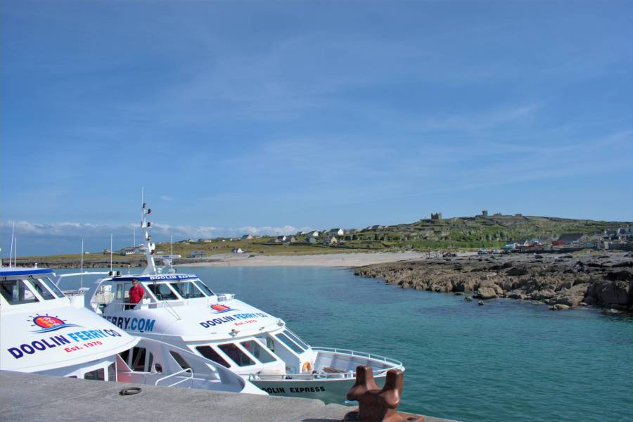 Doolin Ferry at Inis Oirr, Aran Islands.