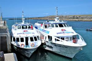 Doolin Ferry Fleet at doolin pier