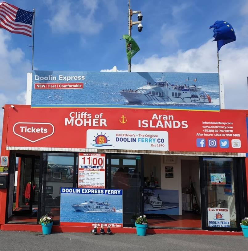 Doolin Ferry Ticket Office at Doolin Pier