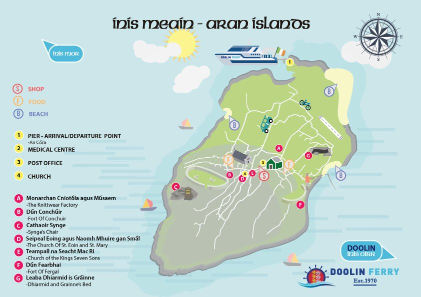Inis Meain Tourist Map