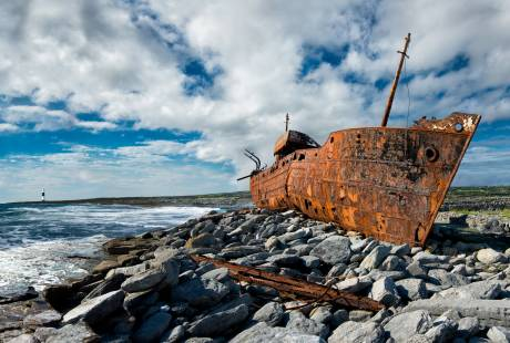 The Plassey Shipwreck on Inis Oirr, Aran Islands.