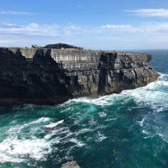 Views of the Burren and Cliffs of Moher Coastline.