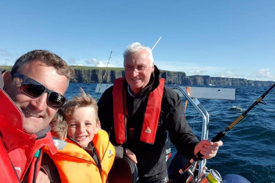 Liam O'Brien, Bill O'Brien and grandson