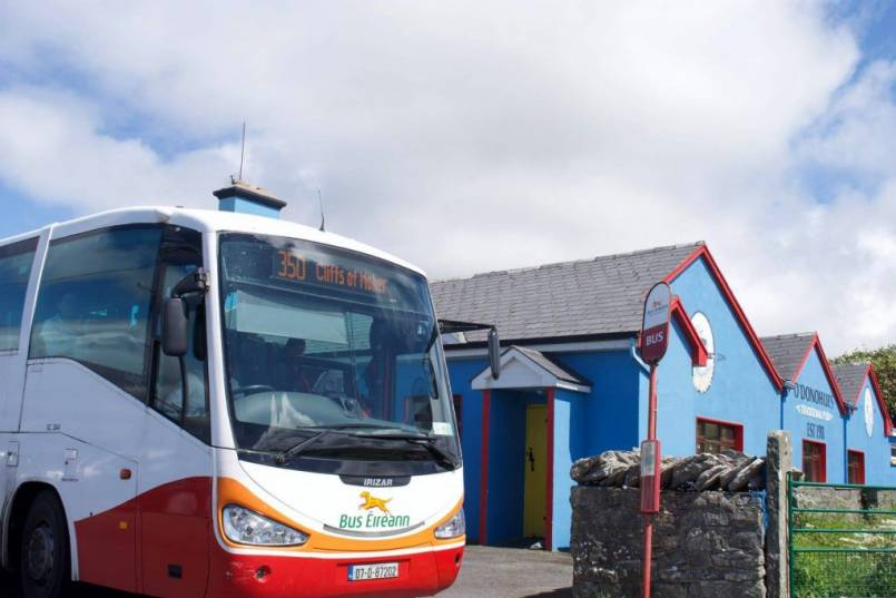 Bus Eireann traveling to Doolin Ferry with a special ticket offer.