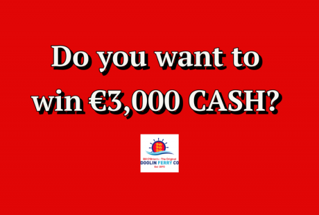 win 3000 euro with doolin ferry co ticket purchase